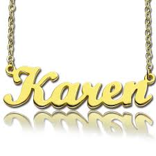 plated name necklace style name necklace