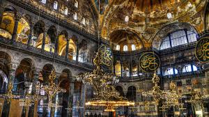 religious magnificent mosque interior religious chandeliers paint