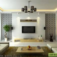 Home Interior Design Living Room 2015 Tv Display Decoration Contemporary Home Theater Boxes Lights