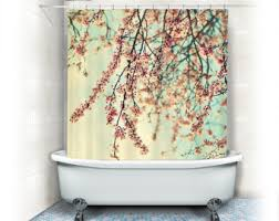 Pink And Orange Shower Curtain Shower Curtains U0026 Rings Etsy