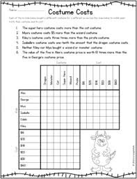 math logic puzzles halloween activities for grades 4 and up