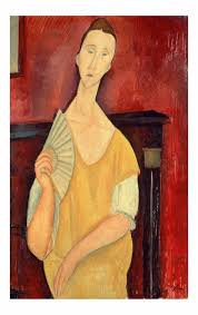 modigliani woman with a fan woman with a fan lunia czechowska by amedeo modigliani wall art