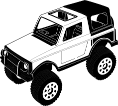 jeep art jeep top view clip art blank background search cliparts images