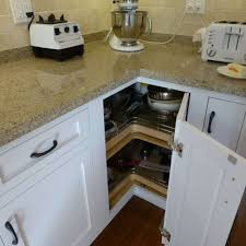kitchen with granite countertops and lazy susan cabinet kitchen