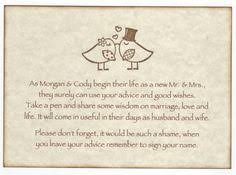 Wedding Wishes And Advice Cards Love Bird Wish Cards Advice Cards Wedding By Onthewingspaperie