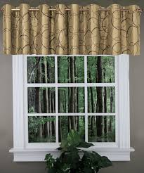 Chocolate Curtains With Valance Sinclair Embroidery Valance Chocolate U2013 United Kitchen Valances