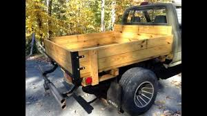 Homemade Wooden Beds Home Made Toyota Wooden Flatbed Youtube