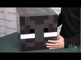Minecraft Enderman Halloween Costume Minecraft Enderman Cardboard Head Spin Master