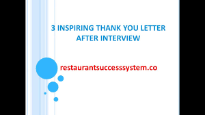 3 thank you letter format after interview sample youtube