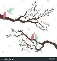 Love Bird Wedding Invitations Retro Love Bird Wedding Invitation Illustration Stock Vector