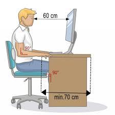 hauteur bureau ergonomie ergonomie au travail 5 règles pour une bonne posture au bureau
