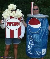 Popcorn Halloween Costume Popcorn Pepsi Couple Costume