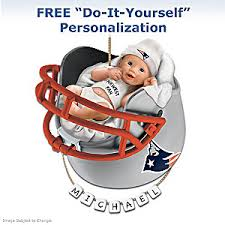 new patriots personalized babys ornament