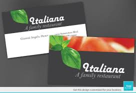 business card template for italian restaurant order custom