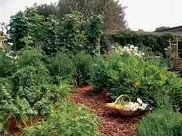intensive gardening layout keyhole vegetable garden sunset