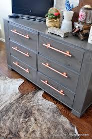 Malm Hacks Diy Copper Drawer Pulls Update An Ikea Dresser Read More At Http