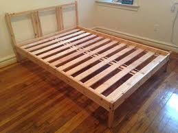 lade wood ikea fjellse bed frame and sultan lade slats in hudson
