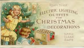 the of electric tree lights history in the