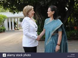 us secretary of state hillary rodham clinton meets with sonia