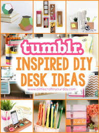 Diy For Room Decor Tumblr Inspired Diy Desk Ideas Desks Craft And Room Decor