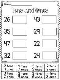 first grade math unit 9 place value tens and ones cut and paste