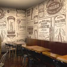 wallpaper coffee design european retro newspaper photo wallpaper coffee shop bar restaurant