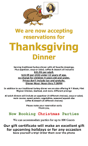 thanksgiving and reservations are open mona