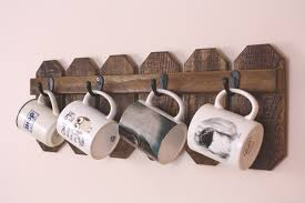 4 cup mug holder country kitchen farmhouse decor