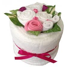 towel cake nappy cakes blooming towel cake pink baby gift