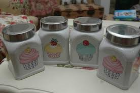 27 best cupcakes make everything better images on - Cupcake Canisters For Kitchen