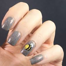 worker bee nail art for manchester stamping decals keely u0027s nails