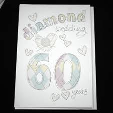 60 year wedding anniversary wedding anniversary card 60 diamond wedding 60 years