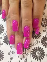 ibd crazy plum gel polish over acrylic nails audrey