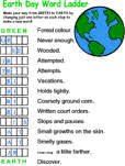 earth day worksheets and activity sheets