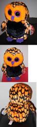 current 438 ty beanie boos haunt 6 halloween owl mint