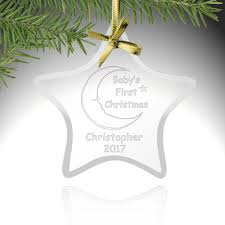 first christmas glass star ornament