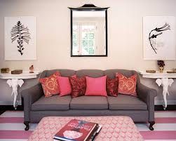 Living Rooms  Charming Small Living Room With Pink Sofa And Glass - Pink living room set