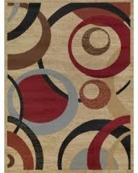 Circle Area Rug Sale Ottomanson Royal Collection Contemporary Abstract Circle