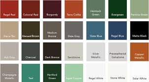 standing seam metal roof colors please note that colors may vary