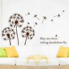 Free shipping 5 pcs lot Cute Dandelion decorative wall decor