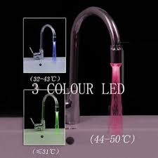 Led Kitchen Faucet by New Magical 3 Color Sensor Led Light Water Faucet Tap Temperature