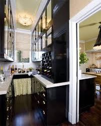 Black Galley Kitchen - kitchen fancy kitchen galley layouts decoration using black glass