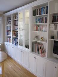 white bookcases with built in desk traditional kitchen