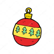 christmas baubles cartoon u2014 stock vector lineartestpilot 14907743