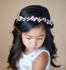 flower girl headbands purple flower girl headband flower girl crown lavender hair