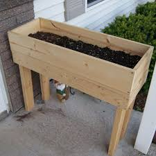 herb garden planter box wooden planter happy hour projects
