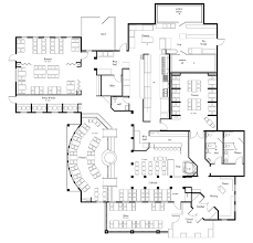 Open Kitchen Floor Plan Delightful Restaurant Open Kitchen Floor Plan Engaging