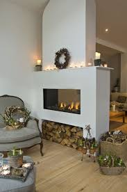 love the fire place great idea to store logs home decor