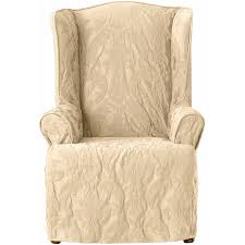 Furniture Delightful Shine Wingback Recliner Slipcover With - Designer reclining chairs