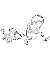 diego play baby jaguar diego coloring netart